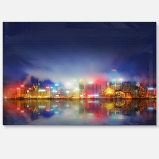 Link to Colorful Hong Kong Skyline - Cityscape Photography Glossy Metal Wall Art Similar Items in Metal Art