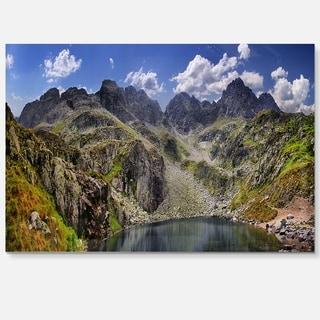 Tatra Mountains Panorama - Landscape Photo Glossy Metal Wall Art