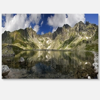 Mountain Lake with Reflection - Landscape Photo Glossy Metal Wall Art