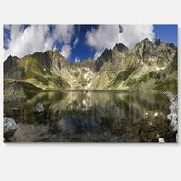 Mountain Lake with Reflection - Landscape Photo Glossy Metal Wall Art