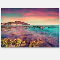Giallonardo Beach Colorful Sunset - Seashore Photo Glossy Metal Wall Art