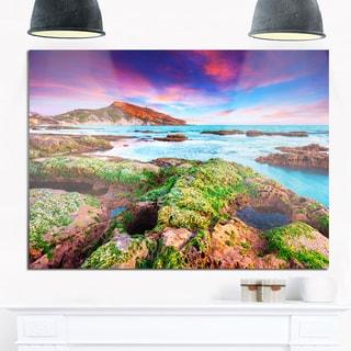 Giallonardo Beach Spring Sunset - Seashore Photo Glossy Metal Wall Art