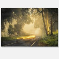 Country Drive - Landscape Photography Glossy Metal Wall Art