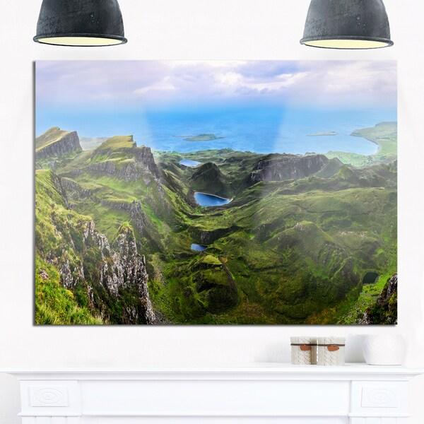 Quiraing Skye Highland Scotland - Landscape Photo Glossy Metal Wall Art