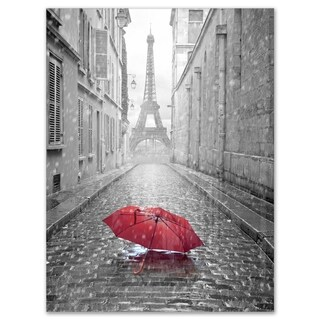Eiffel View from Paris Street - Cityscape Photo Glossy Metal Wall Art (3 options available)