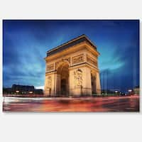 Arch of Triumph in Paris - Landscape Photo Glossy Metal Wall Art