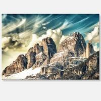 High Peaks of Dolomites - Landscape Photo Glossy Metal Wall Art