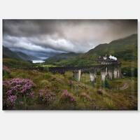Glenfinnan Viaduct, Scotland - Landscape Photo Glossy Metal Wall Art