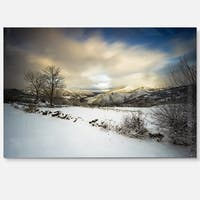 Snow Storm in Spain - Landscape Photography Glossy Metal Wall Art