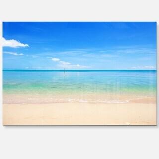 Calm Waves at Tropical Beach - Seashore Photo Glossy Metal Wall Art