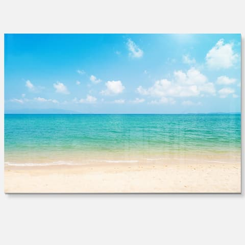 Wide View of Tropical Beach - Seashore Photo Glossy Metal Wall Art