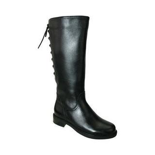 Women's David Tate Zoe 20 Wide Calf Boot Black Soft Calf