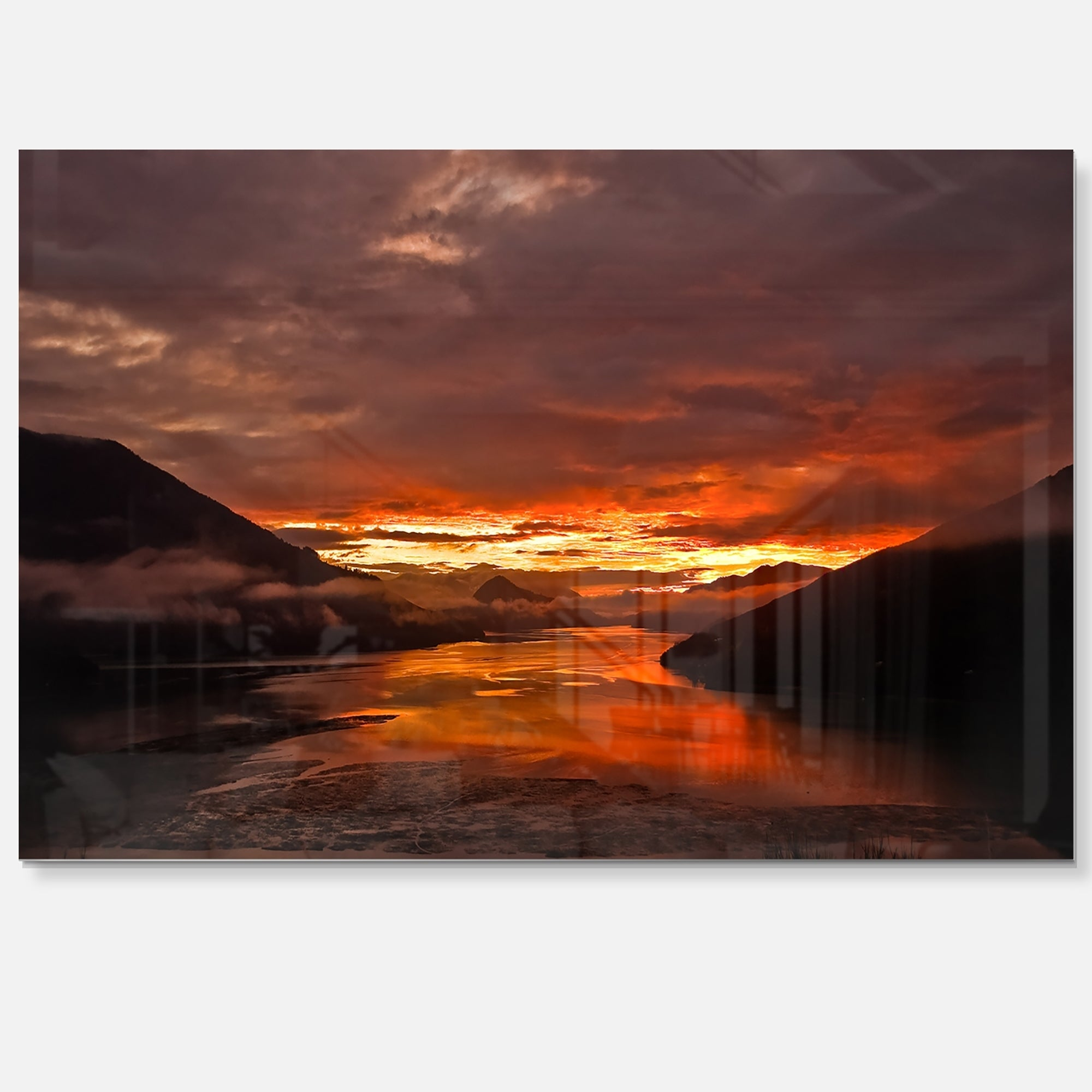 Sunrise In Cloudy Day New Zealand Landscape Photo Glossy Metal Wall Art On Sale Overstock 12780490