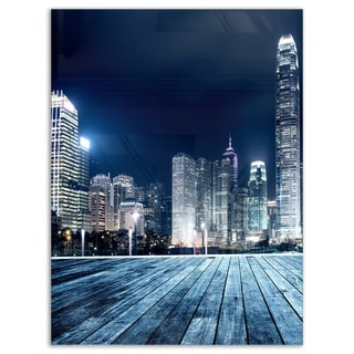 Link to Blue Hong Kong City Skyline - Cityscape Glossy Metal Wall Art Similar Items in Metal Art
