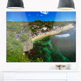 Balangan Beach - Bali Indonesia - Seashore Glossy Metal Wall Art