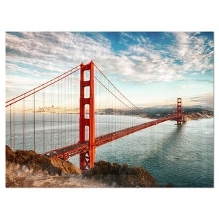 Golden Gate Bridge in San Francisco - Sea Bridge Glossy Metal Wall Art