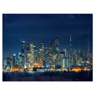 Link to San Francisco Skyline at Night - Cityscape Glossy Metal Wall Art Similar Items in Metal Art