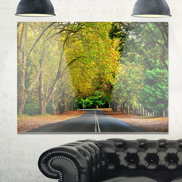 Road through Stunning Greenery - Landscape Glossy Metal Wall Art ...