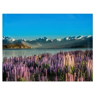 Incredible Mountains Waters and Flowers - Landscape Glossy Metal Wall Art