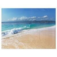 Large Blue Beach in Gili Island - Large Seashore Glossy Metal Wall Art