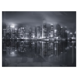 Link to Hong Kong Black and White Skyline - Cityscape Glossy Metal Wall Art Similar Items in Metal Art