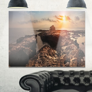 Rocky African Coast Panorama - Oversized Beach Glossy Metal Wall Art