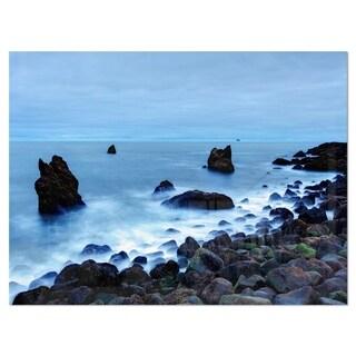 Rocky Coast near Raykjanes - Extra Large Seashore Glossy Metal Wall Art