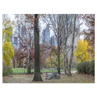 Central Park New York City in Autumn - Landscape Glossy Metal Wall Art