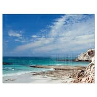 Rocky Coast Panoramic View - Extra Large Seashore Glossy Metal Wall Art