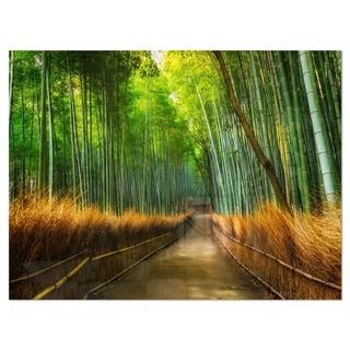 Arashiyama Bamboo Grove Japan - Oversized Forest Glossy Metal Wall Art