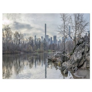 Black and White Central Park NYC - Landscape Glossy Metal Wall Art