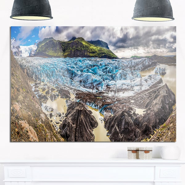 Huge Vatnajokull Glacier Panorama - Landscape Glossy Metal Wall Art ...