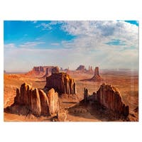 Monument Valley Aerial Sky View - Landscape Glossy Metal Wall Art