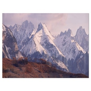 Snowy Tatra Mountains in Spring - Landscape Glossy Metal Wall Art