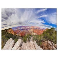 Eye Looking at the Grand Canyon - Landscape Glossy Metal Wall Art