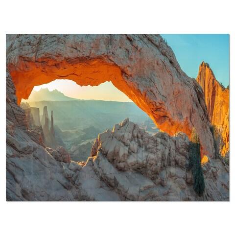 Mesa Arch Canyon lands Utah Park - Landscape Glossy Metal Wall Art
