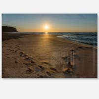 Sydney Seashore at Sunrise - Seashore Glossy Metal Wall Art