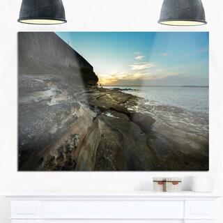 Rocky Sydney Beach View - Seashore Glossy Metal Wall Art