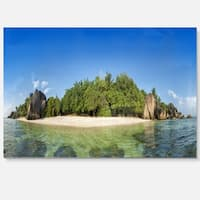 Paradise on Earth Seychelles Island - Large Seashore Glossy Metal Wall Art