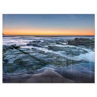 Sunrise Over Wide Sydney Ocean - Large Seashore Glossy Metal Wall Art