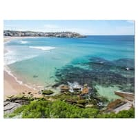 Expansive Sydney Bondi Beach - Large Seashore Glossy Metal Wall Art