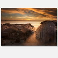 Large Rocks at La Perouse Bridge - Large Seashore Glossy Metal Wall Art
