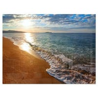 Gili Island Tropical Beach - Large Seashore Glossy Metal Wall Art