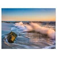 Crashing Waves at Victoria Beach - Seashore Glossy Metal Wall Art