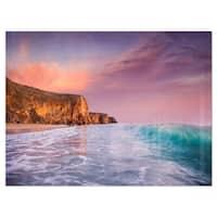 Beautiful Paradise Sunset - Extra Large Seascape Glossy Metal Wall Art