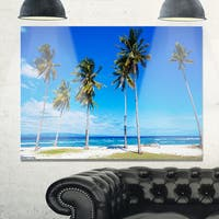 Bright and Clear Tropical Beach - Extra Large Seascape Glossy Metal Wall Art