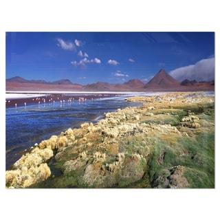 Colorada Lagoon and Pabellon Volcano - Oversized Beach Glossy Metal Wall Art