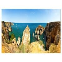 High Cloudy Mountains Panorama - Oversized Beach Glossy Metal Wall Art