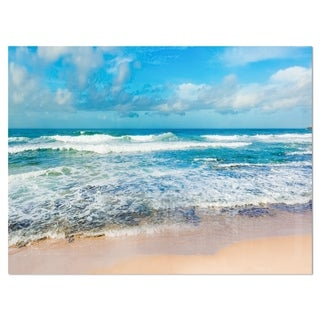 Indian Ocean Panoramic View - Extra Large Seashore Glossy Metal Wall Art