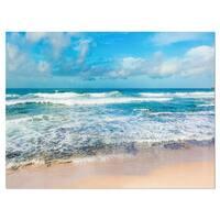 Indian Ocean Panoramic View - Extra Large Seashore Glossy Metal Wall Art